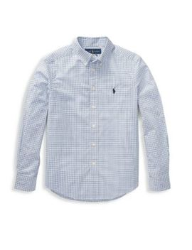 Little Boy's & Boy's Plaid Poplin Shirt by Ralph Lauren