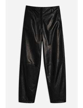 **Banana Leg Leather Trousers By Boutique by Topshop