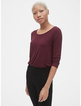 Long Sleeve T Shirt In Luxe Jersey by Gap
