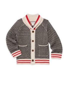 Little Boy's & Boy's Shawl Collar Cardigan by Hatley