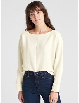Boxy Ottoman Ribbed Long Sleeve Top by Gap