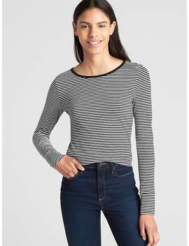 Featherweight Stripe Long Sleeve Crewneck T Shirt by Gap