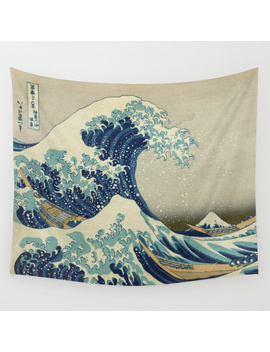 The Great Wave Off Kanagawa Wall Tapestry by