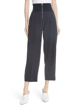 Exposed Zip Wide Leg Pants by Carven