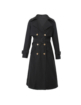 2018 Autumn New Brand Women Trench Coat Long Windbreaker Classic Double Breasted Fashion Trend Slim Long Trench R666 by Xi Jiang Moon