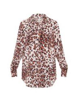 Orange Leopard Print Oversized Shirt by Prettylittlething