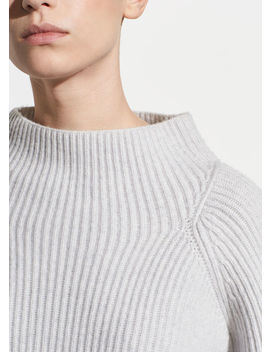 Button Sleeve Funnel Neck by Vince