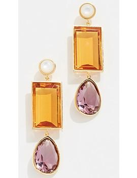 Amber Gem Earrings by Lizzie Fortunato