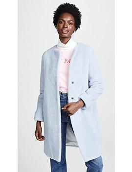 Collarless Faux Fur Coat by Harris Wharf London