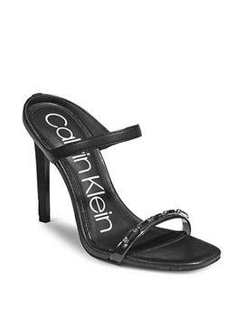Embellished Stiletto Sandals by Calvin Klein