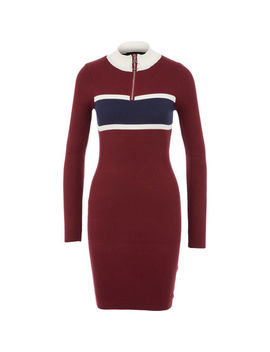 Burgundy Knitted Dress by Say What