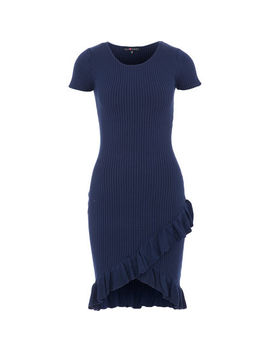 Navy Cable Dress by Lu Nyc