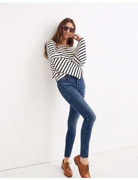 "Tall 9"" High Rise Skinny Jeans In Paloma Wash: Raw Hem Edition by Madewell"