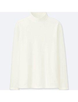 Men Heattech Stretch Fleece Mock Neck Long Sleeve T Shirt by Uniqlo