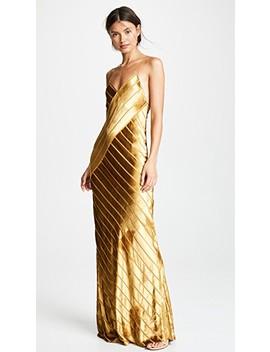 Bias Velvet Gown by Michelle Mason