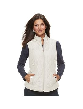 Petite Croft & Barrow® Classic Quilted Vest by Petite Croft & Barrow