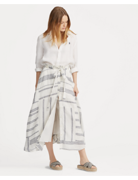 Patchwork Linen Skirt by Ralph Lauren
