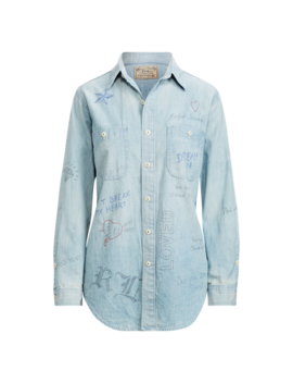 Graffiti Chambray Shirt by Ralph Lauren