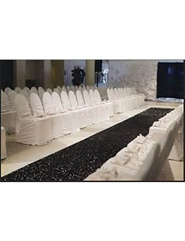 Trlyc 48 Inch By 15 Ft Wedding Sequin Aisle Runner Marriage Ceremony Bridal Carpet Wedding Aisle Runner Indoor Wedding Aisle Runner Silver by Trlyc