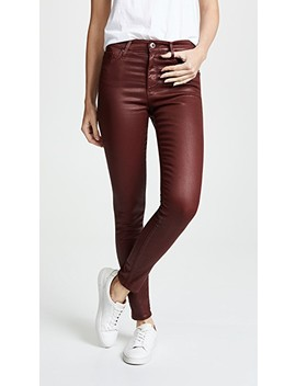 Farrah Ankle Leatherette Skinny Jeans by Ag