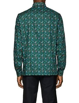 Floral Cotton Poplin Shirt by Prada
