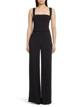 Rosina Bustier Crepe Jumpsuit by Theory