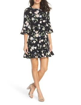 Floral Bell Sleeve Dress by Avec Les Filles