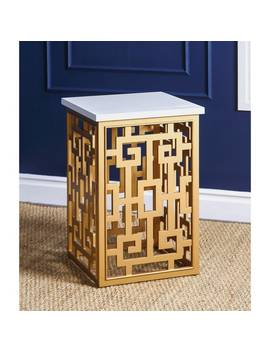 Abbyson Marseille Gold End Table by Abbyson