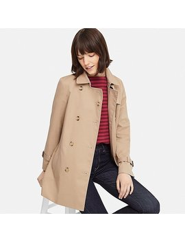 Manteau Trench Court Femme by Uniqlo
