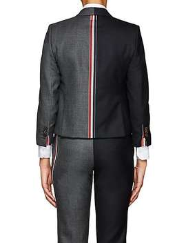 Classic Two Tone Wool Three Button Blazer by Thom Browne