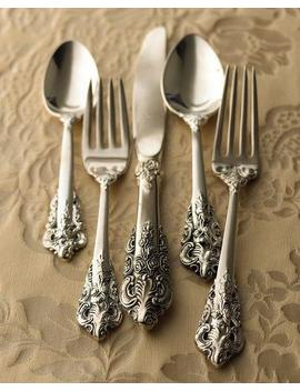 92 Piece 20th Century Baroque Silver Plated Flatware by Neiman Marcus