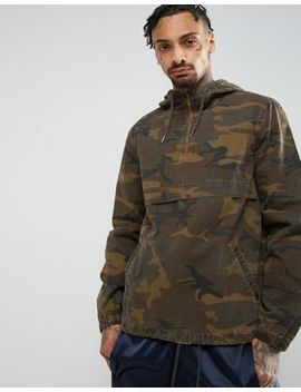 Asos Overhead Windbreaker In Acid Wash Camo Print by Asos