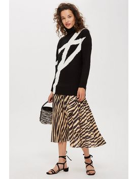 Graphic Monochrome Jumper by Topshop
