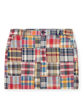 Patchwork Cotton Madras Skirt by Ralph Lauren