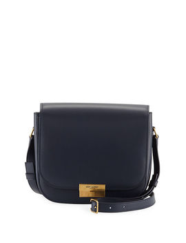 Medium Calfskin Leather Flap Crossbody Bag With Logo Lock by Saint Laurent