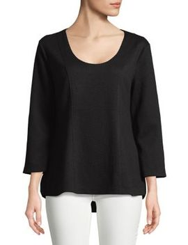 Quarter Sleeve Hi Lo Top by Imnyc Isaac Mizrahi