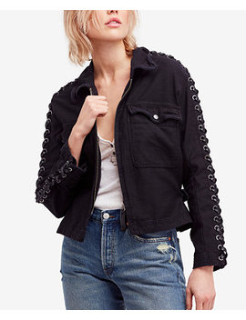 Faye Cotton Military Lace Up Jacket by Free People