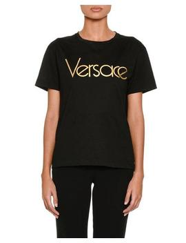 Short Sleeve Crewneck Logo T Shirt by Versace