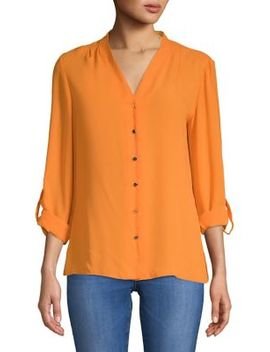 Long Sleeve V Neck Shirt by Dorothy Perkins