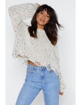 Call Knit A Day Multicolored Sweater by Nasty Gal