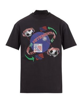 Football Print Reconstructed T Shirt by Vetements