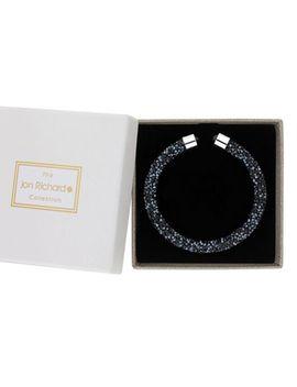 Jon Richard   Blue Crystal Sparkle Bangle In A Gift Box by Jon Richard