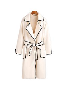 2018 Hot Sale Woman Wool Coat High Quality Winter Jacket Women Slim Woolen Long Cashmere Coats Cardigan Jackets Elegant Blend by Smthma