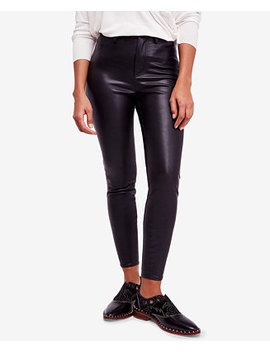 Faux Leather High Rise Skinny Pants by Free People