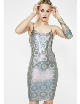 Drop The Bass Hologram Dress by Hot Delicious