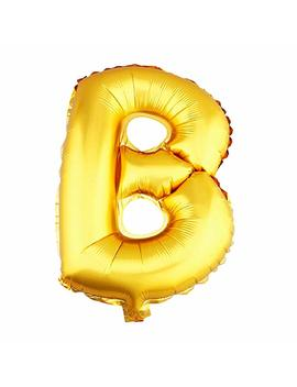 Aerfas 40 Inch Letter Balloons, Gold A Z Letter And 0 9 Number Aluminum Foil Balloons For Party Decoration Supplies,Can Be Float With Helium, (Letter B) by Aerfas