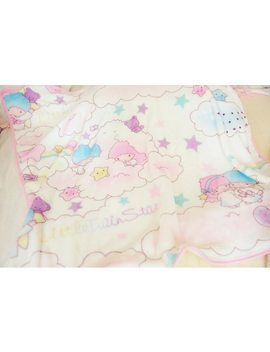 Candice Guo! Cute Plush Toy Cartoon Little Twin Star Sweet In The Cloud Pillowcase Blanket Girls Creative Birthday Gift 1pc by Candice Guo