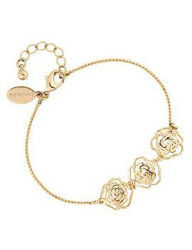 Jon Richard   Gold Crystal Open Rose Bracelet by Jon Richard