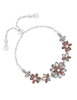 No. 1 Jenny Packham   Designer Floral Toggle Bracelet by No. 1 Jenny Packham