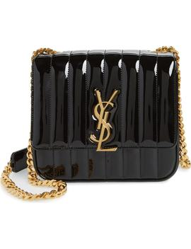 Medium Vicky Patent Leather Crossbody Bag by Saint Laurent